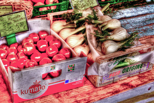 Vegetables Art Print featuring the photograph Hauptmarkt by Bill Lindsay