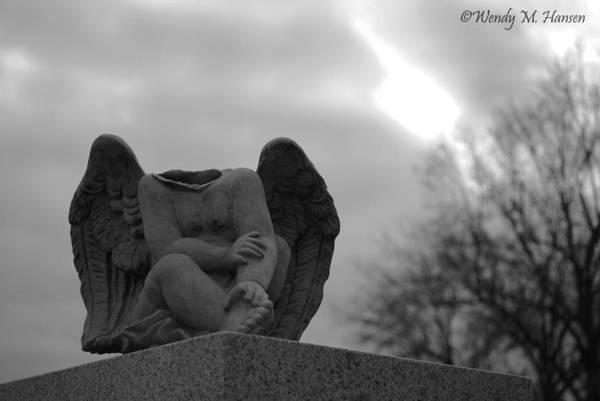 Angel Art Print featuring the photograph Headless Angel by Wendy Hansen-Penman