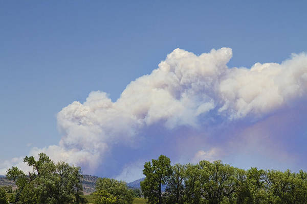 'high Park' Art Print featuring the photograph High Park Fire Larimer County Colorado by James BO Insogna