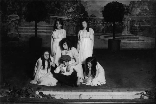 1910s Art Print featuring the photograph High School Play, Original Caption Miss by Everett
