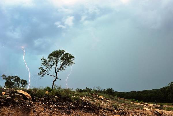 Lightning Art Print featuring the photograph Hill Country Strike Series 3 by Jeremiah Nichols