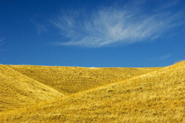 Agriculture Art Print featuring the photograph Hills And Clouds, Cypress Hills by Mike Grandmailson