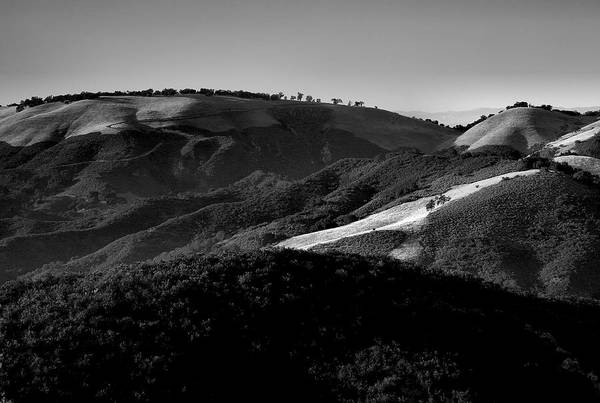 California Print featuring the photograph Hills Of Light And Darkness II by Steven Ainsworth