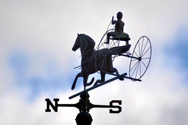 Horse And Buggy Weather Vane Art Print featuring the photograph Horse And Buggy Weather Vane by Bill Cannon