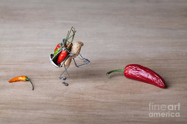Peanut Art Print featuring the photograph Hot Delivery 01 by Nailia Schwarz
