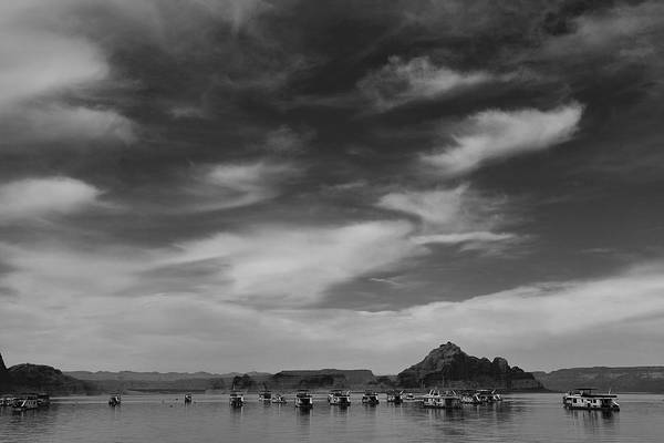 Nature Art Print featuring the photograph Houseboats On Lake Powell by Andrew Soundarajan