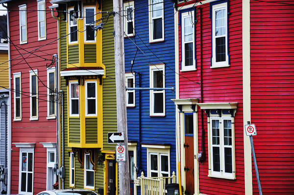 St. John's Art Print featuring the photograph Houses St Johns by Geoff Evans
