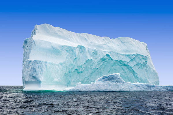 Horizontal Art Print featuring the photograph Iceberg Off The Newfoundland Coast by Aluma Images