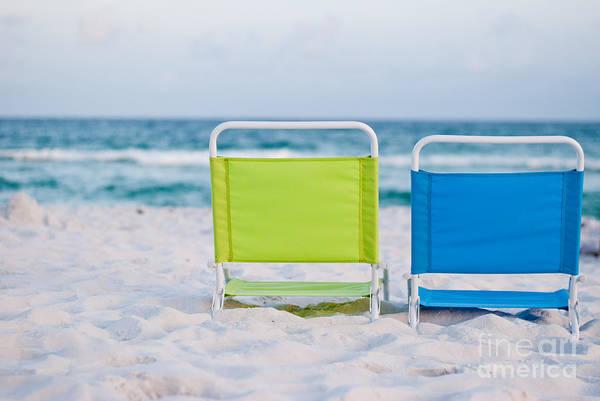 Beach Art Print featuring the photograph If I Were A Chair... by Barbara Shallue