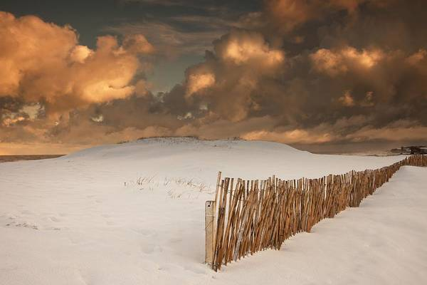 Illuminated Art Print featuring the photograph Illuminated Clouds Glowing Over A Snow by John Short