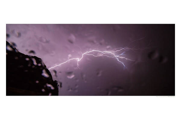 Lightning Art Print featuring the photograph Illuminating Wetness II by Andreas Hohl