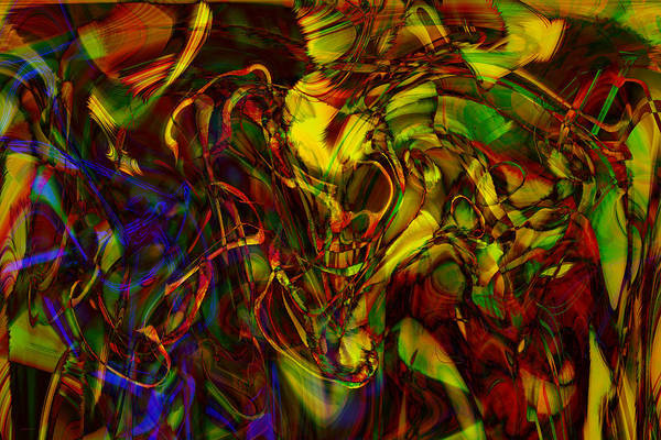 Abstract Print featuring the digital art Injections by Linda Sannuti