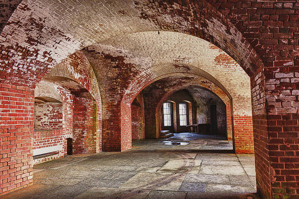 Arch Art Print featuring the photograph Inside The Walls by Garry Gay