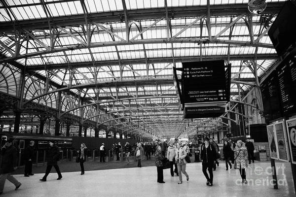 Interior Art Print featuring the photograph interior of central station Glasgow Scotland UK by Joe Fox