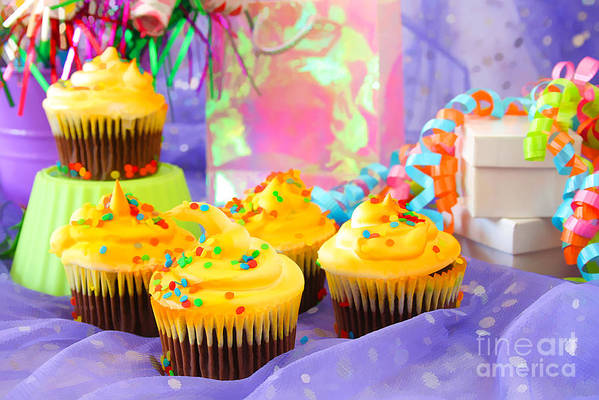 Cupcakes Art Print featuring the photograph It's A Party by Darren Fisher