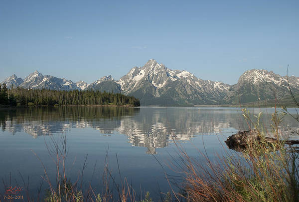 Reflection Art Print featuring the photograph Jackson Lake by Kenneth Hadlock