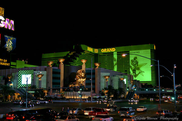 Las Vegas Art Print featuring the photograph Just Grand by Charles Warren
