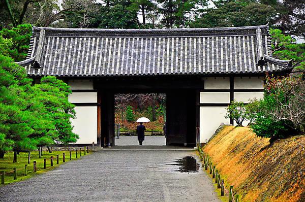 Kyoto Art Print featuring the photograph Kyoto Rain by Thomas Michael Corcoran