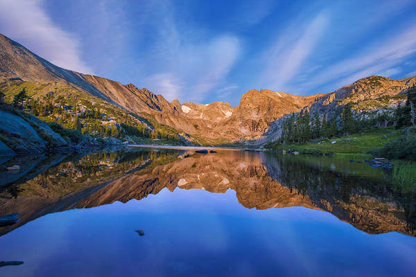 Horizontal Art Print featuring the photograph Lake Isabelle by Brad McGinley Photography