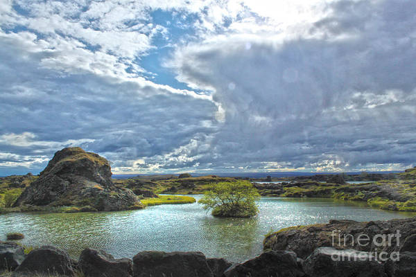 Lake Myvatn Art Print featuring the photograph Lake Myvatn - Iceland by Gregory Dyer