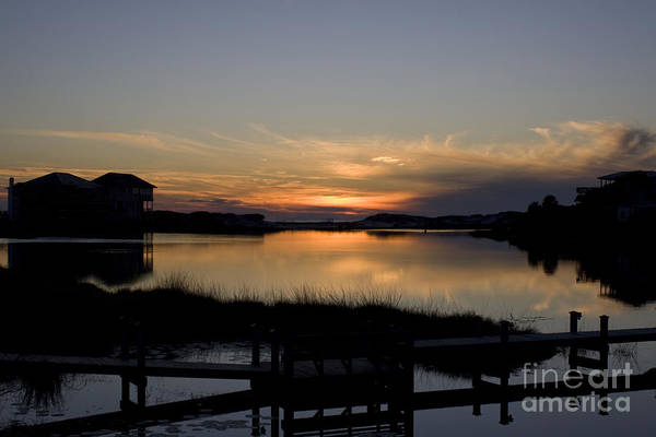 Sunset Art Print featuring the photograph Lakeside Sunset by Thomas Benzenhafer