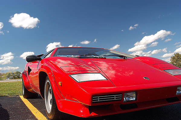 Red Lamborghini Art Print featuring the photograph Lamborghini by Randall Branham