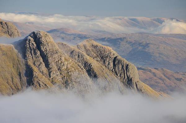 Langdale Art Print featuring the photograph Langdale Pikes by Stewart Smith