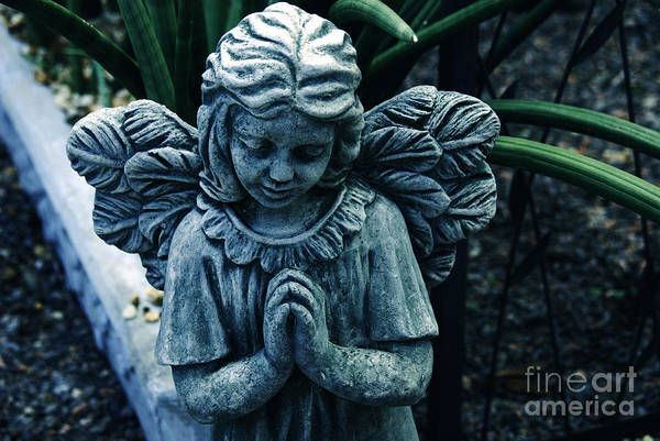 Angel Art Print featuring the photograph Lets Pray by Susanne Van Hulst