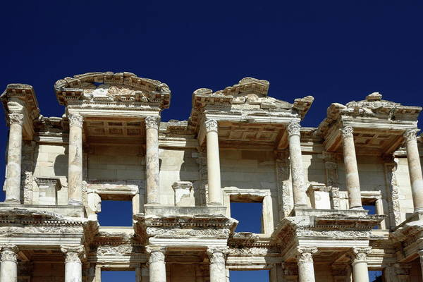 Library Of Celsus Art Print featuring the photograph Library Of Celsus In Ephesus by Sally Weigand