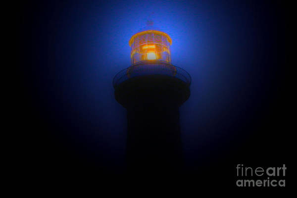 Lighthouse Photographs Art Print featuring the photograph Lighthouse Glow by Joanne Kocwin