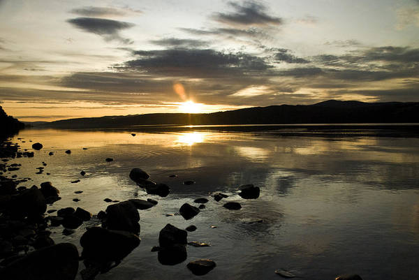 Landscape Art Print featuring the photograph Loch Rannoch Sunset by Vic Sharp