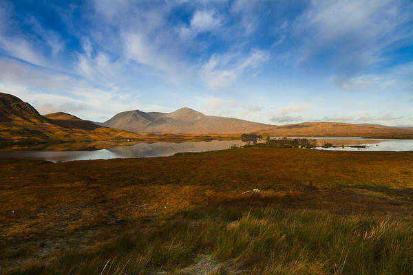 Glencoe Art Print featuring the photograph Lochan Nah Achlaise And Black Mount by Gabor Pozsgai