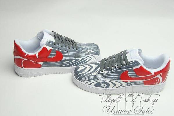 Nike Art Print featuring the mixed media Love Woods Custom Air Force Ones by Joseph Boyd