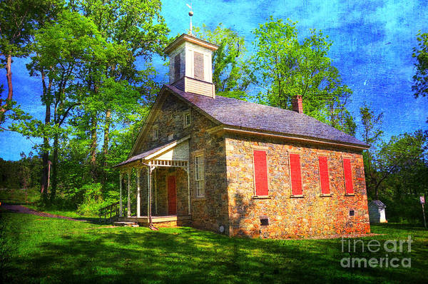 Lutz-franklin Print featuring the photograph Lutz-franklin Schoolhouse by Paul Ward