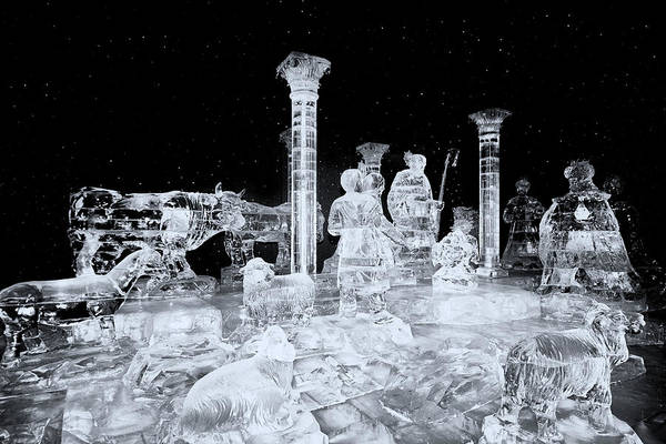 Made Of Ice-ice Art Print featuring the photograph Made Of Ice V5 by Douglas Barnard