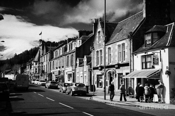 Small Art Print featuring the photograph main road through the picturesque small town of Callander scotland uk by Joe Fox