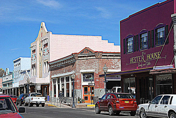 Main Street Art Print featuring the photograph Main Street In Silver City Nm by Susanne Van Hulst