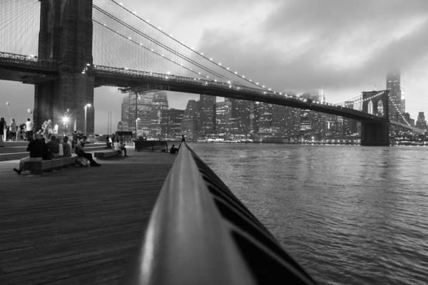 Brooklyn Bridge Art Print featuring the photograph Manhattan Bridge by Nina Mirhabibi