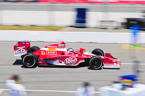 Marco Andretti Art Print featuring the photograph Marco Andretti At Toronto Indy by Jarvis Chau