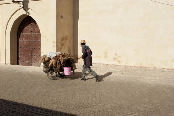 Morocco Art Print featuring the photograph Marrakech Old Town Street Life by Pat Garret