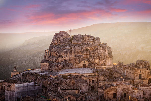 Colour Print featuring the photograph Matera Sassi by Michael Avory