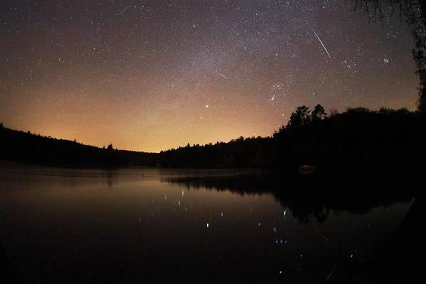Star Art Print featuring the photograph Meteor Shower by Laurent Laveder