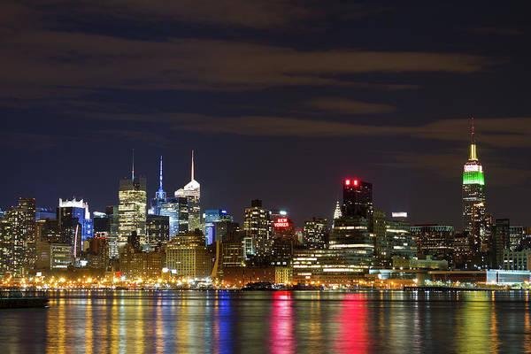 Horizontal Art Print featuring the photograph Mid Town Manhattan by Shabdro Photo