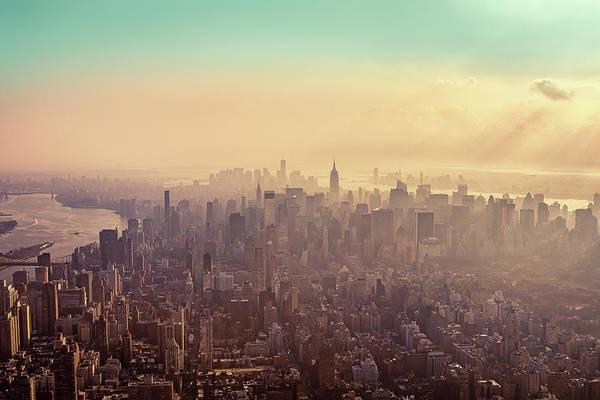 Horizontal Art Print featuring the photograph Midtown Manhattan At Dusk by Matthias Haker Photography