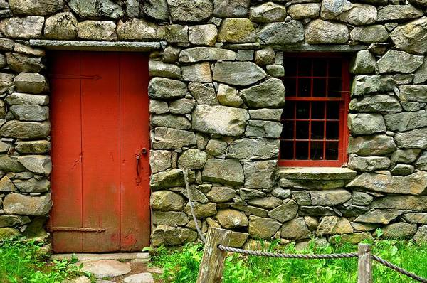 Mill Art Print featuring the photograph Mill Door And Window by Mark Valentine
