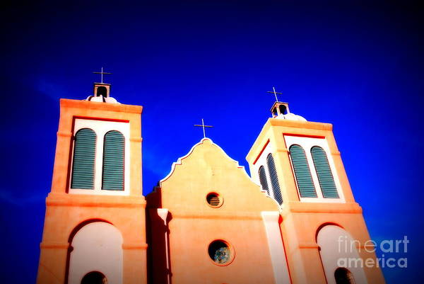 Mission Art Print featuring the photograph Mission Church Silver City Nm by Susanne Van Hulst