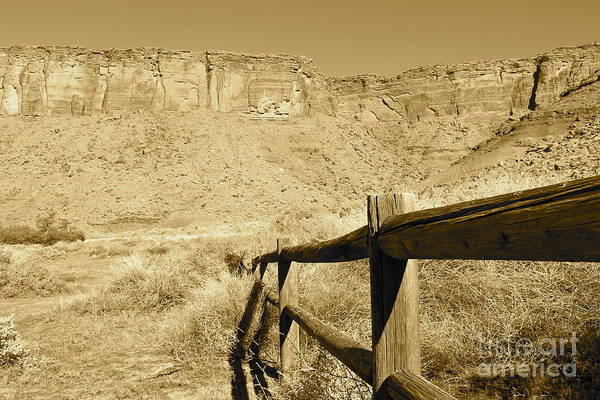 Moab Art Print featuring the photograph Moab - Sepia by Pamela Walrath