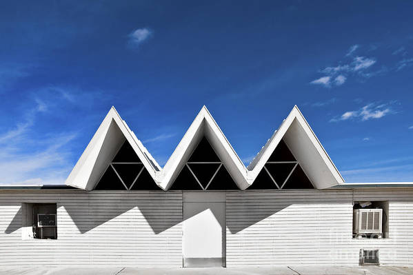 Angles Art Print featuring the photograph Modern Building Roofing by Eddy Joaquim
