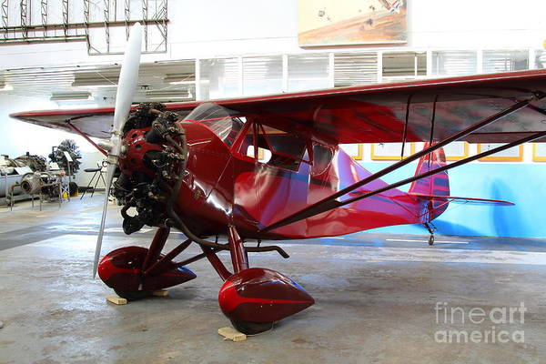 Airplane Art Print featuring the photograph Monocoupe 110 . 7d11149 by Wingsdomain Art and Photography