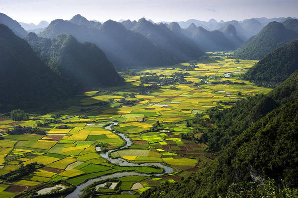 Horizontal Art Print featuring the photograph Morning In Valley by By Hoang Hai Thinh